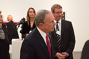 MICHAEL BLOOMBERG MAY OF NEW YORK, MARC GLIMCHER, VIP Opening of Frieze Masters. Regents Park, London. 9 October 2012