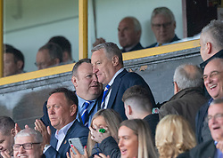 Cove Rangers manager John Shearin after Paul McManus cele scoring their third goal. Cove Rangers have become the SPFL's newest side and ended Berwick Rangers' 68-year stay in Scotland's senior leagues by earning a League Two place. Berwick Rangers 0 v 3 Cove Rangers, League Two Play-Off Second Leg played 18/5/2019 at Berwick Rangers Stadium Shielfield Park.