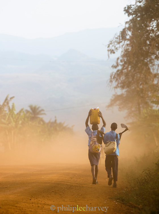 Villagers on the Ring Road in north-western Cameroon, near Babungo.