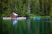 Boat & floating boat house, Sitka, Alaska