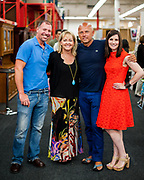 The third annual ReStore ReStyle Design Challenge kicked off Friday, May 17, 2013, at the Mooresville ReStore. Guest judges for the event include Stephan Lynch, from left, Lisa Mende, Kevin Mann and Traci Zeller. Photo by Wendy Yang Photography