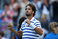 Spain's Feliciano Lopez celebrates winning during day five of the 2017 AEGON Championships at The Queen's Club, London.