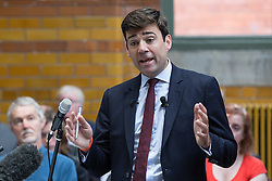 © Licensed to London News Pictures . 17/08/2015 . Manchester , UK . ANDY BURNHAM delivers a speech at the People's History Museum in Manchester this morning (Monday 17th August 2015) . Photo credit : Joel Goodman/LNP