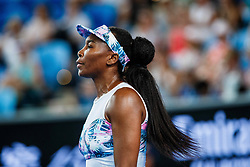 January 18, 2019 - Melbourne, VIC, U.S. - MELBOURNE, VIC - JANUARY 17: VENUS WILLIAMS (USA) during day four match of the 2019 Australian Open on January 17, 2019 at Melbourne Park Tennis Centre Melbourne, Australia (Photo by Chaz Niell/Icon Sportswire) (Credit Image: © Chaz Niell/Icon SMI via ZUMA Press)