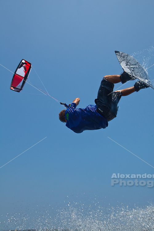 Outerbanks, NC -  Brian Smith kiteboarding at the Triple-S 2011