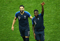 Adil Rami (France) and Samuel Umtiti (France)<br /> Celebration Victory France <br /> Moscow 15-07-2018 Football FIFA World Cup Russia  2018 Final / Finale <br /> France - Croatia / Francia - Croazia <br /> Foto Matteo Ciambelli/Insidefoto
