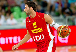 Vladimir Dasic of Montenegro during friendly basketball match between National teams of Slovenia and Montenegro of Adecco Ex-Yu Cup 2011 as part of exhibition games before European Championship Lithuania 2011, on August 7, 2011, in Arena Stozice, Ljubljana, Slovenia. Slovenia defeated Crna Gora 86-79. (Photo by Vid Ponikvar / Sportida)