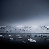 Sea ice, Svalbard, Arctic circle.