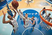 SAN SEBASTIAN, ESPANA - 12 DE ENERO: Andres Nocioni captura el rebote ante su companero Adam Hanga durante el partido de Liga Endesa entre Gipuzkoa Basket y Laboral Kutxa en el pabellon Illumbe el domingo 12 de enero de 2014 en San Sebastian, Espana. (Photo by Aitor Bouzo)