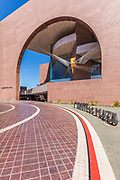 Segerstrom Hall With The Fire Bird Sculpture At Argyros Plaza In Costa Mesa