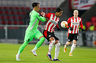 Vitor Gomes of Omonia Nicosia, Mohamed Ihattaren of PSV Eindhoven during the UEFA Europa League, Group E football match between PSV and Omonia Nicosia on December 10, 2020 at Philips Stadion in Eindhoven, Netherlands - Photo Perry vd Leuvert / Orange Pictures / ProSportsImages / DPPI