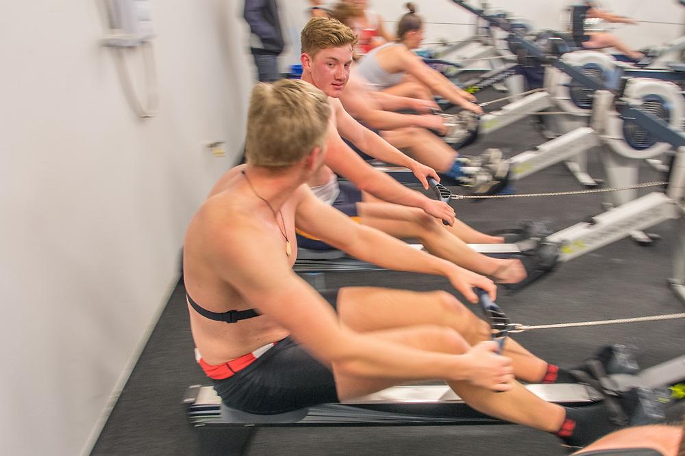 Alex Cartwright, Avon Rowing Club<br /> <br /> SRPC squad ergometer training at HPSNZ Apollo Sports Centre, Christchurch. Tuesday 20 November 2018 © Copyright photo Steve McArthur / @RowingCelebration