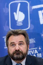 Stane Orazem at press conference of ZNPL, on November 10, 2009, in Ljubljana, Slovenia.   (Photo by Vid Ponikvar / Sportida)