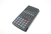 Cutout of a Scientific Calculator on white background