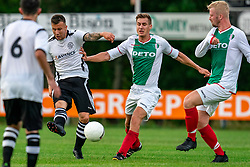 Mitch van der Vlist of VV Maarssen in action. Friendly match against EDO and Maarssen lost the home match with 3-0 on 20 August 2020 in Maarssen.