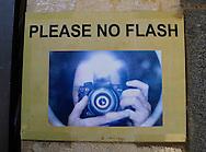 No Flash sign in Carpernaum<br /> Photo by Dennis Brack