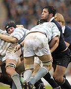 Twickenham. GREAT BRITAIN, Doug ABBOTT, holding on to the breakaway, Michael HARFOOT, during the 2006 Varsity Rugby Match at Twickenham Stadium, England 12.12.2006. [Photo, Peter Spurrier/Intersport-images] Sponsor, Lehman Brothers,