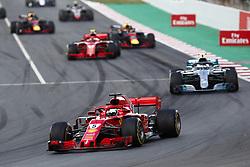 May 13, 2018 - Barcelona, Catalonia, Spain - May 13th, 2018 - Circuit de Barcelona-Catalunya, Montmelo, Spain - Race of Formula One Spanish GP 2018; Sebastian Vettel of Team Scuderia Ferrari during the Spanish GP. (Credit Image: © Eric Alonso via ZUMA Wire)