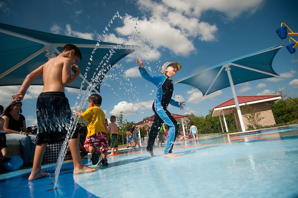 The City of Pflugerville Parks & Recreation Department opened  Splash Park in the Falcon Pointe neighborhood. ..Photo by Mark Matson (5/18/10)