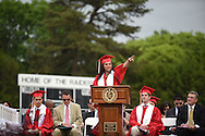 Wellesley High School senior class vice president Emily Zeytoonjian speaks to her classmates during their graduation ceremony, June 3, 2016.<br /> Wicked Local staff photo / Kate Flock