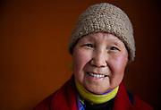 Senior Chinese Woman Wearing Beanie