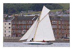 Lucky Girl off the tenements of Largs...The Round Cumbraes race at Larsg starting the 3rd Fife Regatta...* The Fife Yachts are one of the world's most prestigious group of Classic .yachts and this will be the third private regatta following the success of the 98, .and 03 events.  .A pilgrimage to their birthplace of these historic yachts, the 'Stradivarius' of .sail, from Scotland's pre-eminent yacht designer and builder, William Fife III, .on the Clyde 20th -27th June.   . ..More information is available on the website: www.fiferegatta.com . .Press office contact: 01475 689100         Lynda Melvin or Paul Jeffes