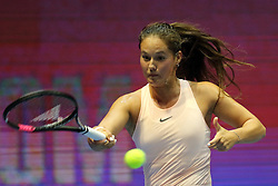 February 2, 2018 - St. Petersburg, Russia - DARYA KASATKINA against C. WOZNIACKI during WTA. St. Petersburg Ladies Trophy 2018 at SIBUR arena. (Credit Image: © Russian Look via ZUMA Wire)
