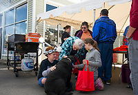 Lucky Jr's birthday party at Sunburn's Auto Repair.  Karen Bobotas for the Laconia Daily Sun