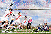BLOOMINGTON, IN - NOVEMBER 19, 2017 - Indiana Hoosiers Men's Soccer team scores a goal during the second round of the 2017 NCAA Division I Men's Soccer Championship against the Old Dominion University Big Blue and the Indiana Hoosiers at Bill Armstrong Stadium in Bloomington, IN. Photo By Craig Bisacre\Indiana Athletics