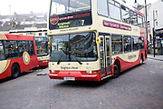 Double decker Brighton Hove buses, Brighton, East Sussex, England