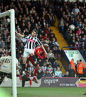 Photo: Mark Stephenson/Richard Lane Photography. <br /> West Bromwich Albion v Watford. Coca-Cola Championship. 12/04/2008. West Brom's Zoltan Gera jumps for the ball