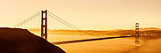 Surise over the San Francisco Bay and Golden Gate in a high-resoluion panorama
