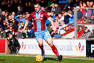 Scunthorpe United defender Harrison McGahey (26)  during the EFL Sky Bet League 1 match between Scunthorpe United and Doncaster Rovers at Glanford Park, Scunthorpe, England on 23 February 2019.
