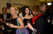 Kate Douglas and Nigella Lawson, 'Feast Food that celebrates Life' by Nigella Lawson book launch. Cadogan Hall, Sloane Terace. 11 October 2004. ONE TIME USE ONLY - DO NOT ARCHIVE  © Copyright Photograph by Dafydd Jones 66 Stockwell Park Rd. London SW9 0DA Tel 020 7733 0108 www.dafjones.com