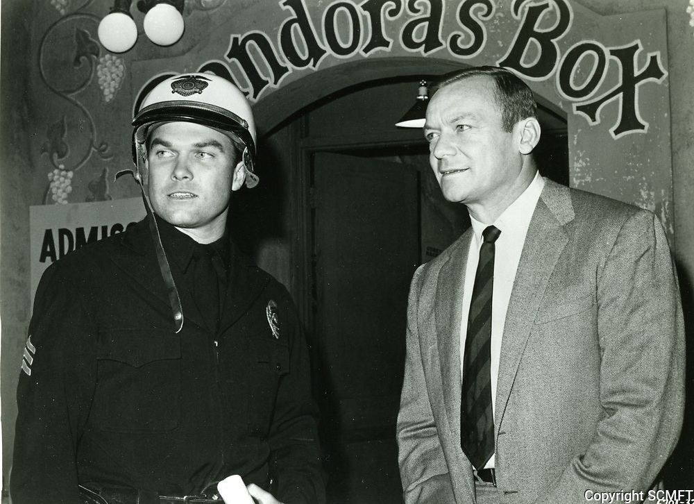 1967 Production photo of Aldo Ray in Riot on Sunset Strip at Pandora's Box