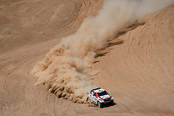 Nasser Al-Attiyah (QAT) of Toyota Gazoo Racing SA races during stage 05 of Rally Dakar 2019 from Monquegua, to Arequipa, Peru on January 11, 2019 // Marcelo Maragni/Red Bull Content Pool // AP-1Y3KKV8KH1W11 // Usage for editorial use only // Please go to www.redbullcontentpool.com for further information. //