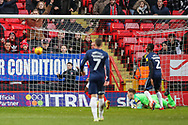 Charlton Athletic midfielder Ben Reeves (12) (not in the photo) scores a goal (1-1)  during the EFL Sky Bet League 1 match between Charlton Athletic and Southend United at The Valley, London, England on 9 February 2019.