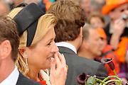 Koninginnedag 2010 . De Koninklijke familie in het zeeuwse  Middelburg. / Queensday 2010. De Royal Family in Middelburg.<br /> <br /> op de foto / on the photo: Prinses Maxima