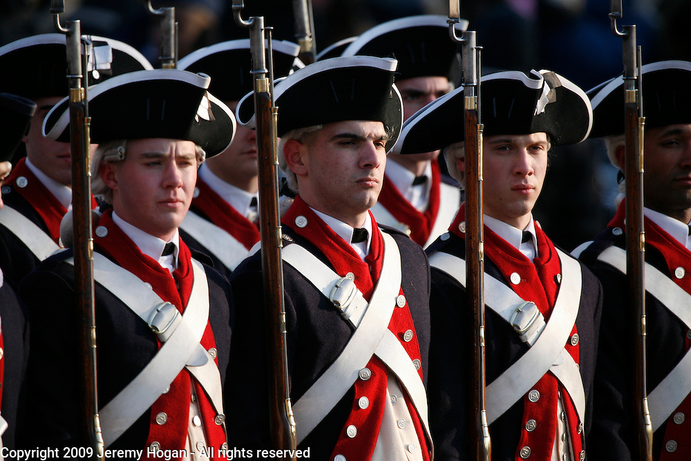 Members of the 3rd U.S. Infantry Regiment (The Old Guard) march in Barack Obama's inaugural parade.