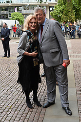 © Licensed to London News Pictures. 07/06/2017. London, UK. JOANNA LUMLEY and STEPHEN FRY attends a service of Thanksgiving for the life and work of RONNIE CORBETT at Westminster Abbey. The entertainer, comedian, actor, writer, and broadcaster was best known for his long association with Ronnie Barker in the BBC television comedy sketch show The Two Ronnies. Photo credit: Ray Tang/LNP