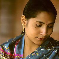 NEPAL, Kathmandu. Sanu Thapa (MR), a traditional Nepali singer.