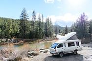 Western states road trip in Kumi the JDM Toyota TownAce a'm craft Camper Van. © Brett Wilhelm