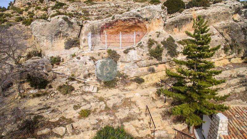 Paraje de El Bosque Y Cueva de la Vieja. Alpera. Albacete. Fotografía aérea con Drone. ©Antonio Real Hurtado / PILAR REVILLA