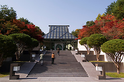 Entrance to Miho art Museum in Japan