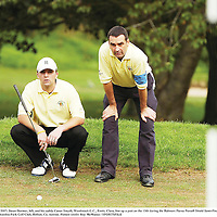 13 September 2007; Jason Dormer, left, and his caddy Conor Smyth, Woodstock G.C., Ennis, Clare, line up a putt on the 13th during the Bulmers Pierce Purcell Shield Semi-Finals. Bulmers Cups and Shields Finals 2007, Shandon Park Golf Club, Belfast, Co. Antrim. Picture credit: Ray McManus / SPORTSFILE