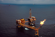 MEXICO, INDUSTRY, PETROLEUM Pemex off shore oil drilling rigs in Campeche Bay, Gulf of Mexico, off the coast of the Yucatan