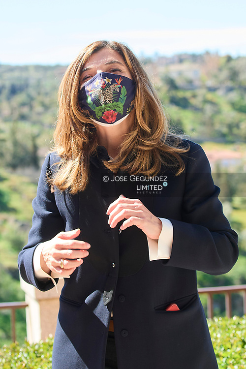 Sandra Fralco attends the ceremony to proclaim the winner of the 'Princess of Girona Foundation Award 2021' in Business category at Victorio Macho House Museum - Royal Foundation of Toledo on March 17, 2021 in Toleo, Spain