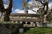 Greece, Epirus, Zagororia, Mikro Papigko villages, located in the Vikos-Aoos National Park, church of Taxiarchon.