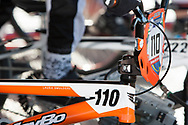 # 110 (SMULDERS Laura) NED bike at the UCI BMX Supercross World Cup in Santiago del Estero, Argentina.