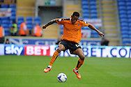 Rajiv Van La Parra of Wolverhampton Wanderers in action. Skybet football league championship match, Cardiff city v Wolverhampton Wanderers at the Cardiff city stadium in Cardiff, South Wales on Saturday 22nd August 2015.<br /> pic by Andrew Orchard, Andrew Orchard sports photography.